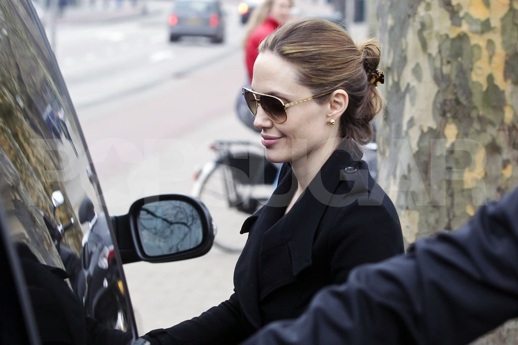 Angelina Jolie explored Amsterdam.