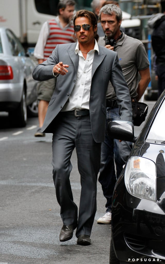 Brad Pitt spent time in London, working on The Counselor in August.