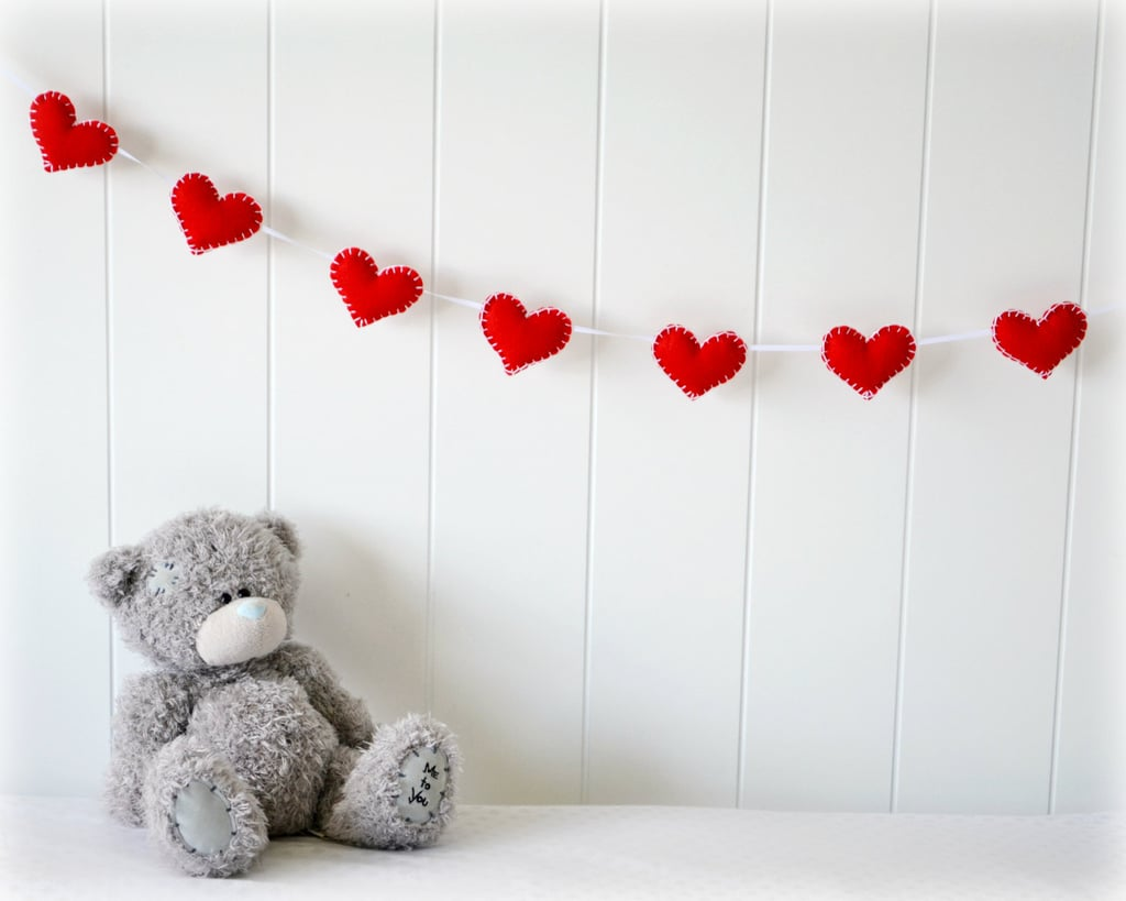 Felt Red Heart Garland