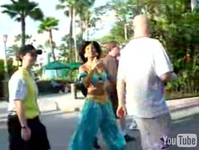 Woman Stalks Jasmine Disney Character at Disneyland