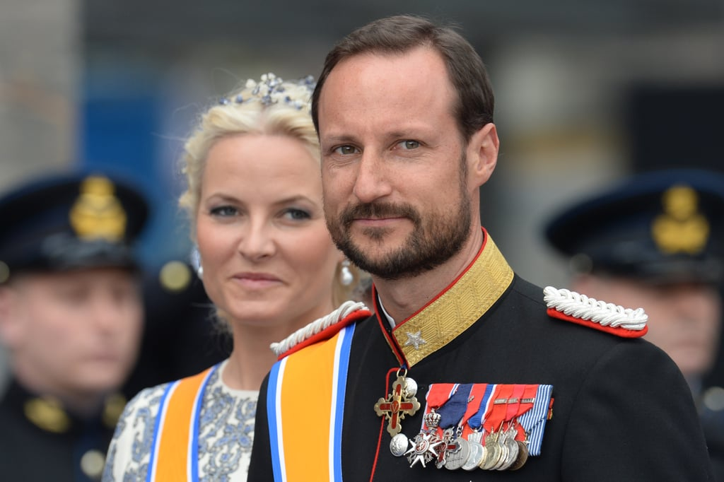 Crown Prince Haakon and Crown Princess Mette-Marit of Norway smiled at the crowds.
