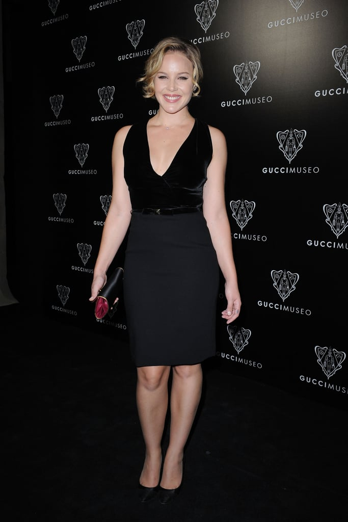 Abbie Cornish stuck to sexy black for the Gucci Museum opening in Florence on Sept. 26.