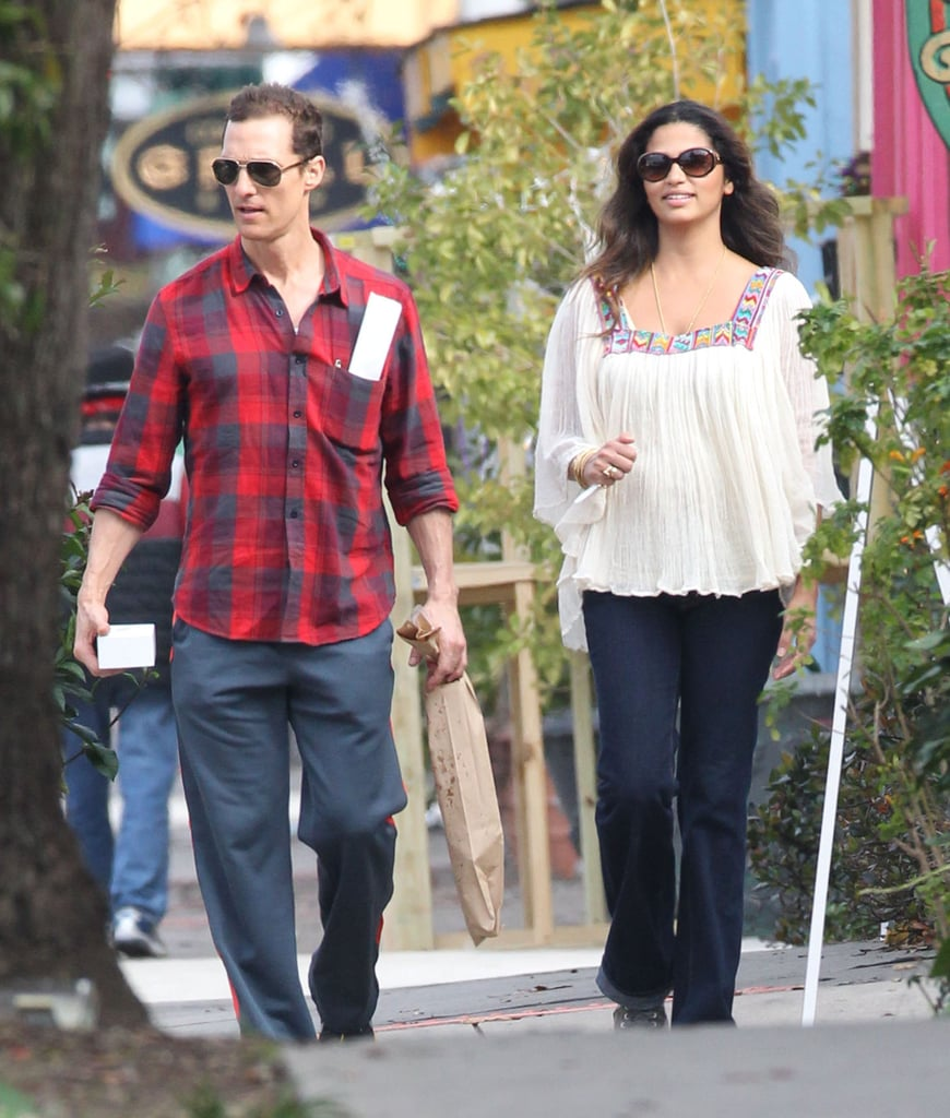 Matthew McConaughey and Camila Alves stepped out on her birthday.