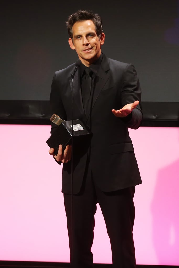 Ben Stiller was on stage to accept his award in LA.