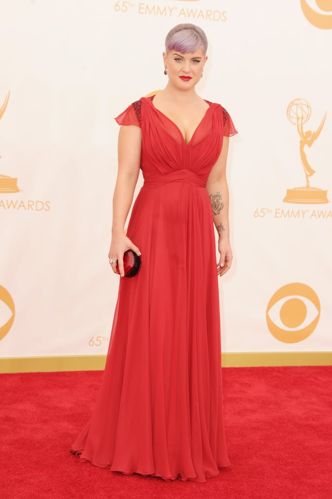 Kelly Osbourne had her Kate Middleton moment in a red dress from the duchess's beloved Jenny Packham. And her shoes just might surprise you — they were from Aldo!