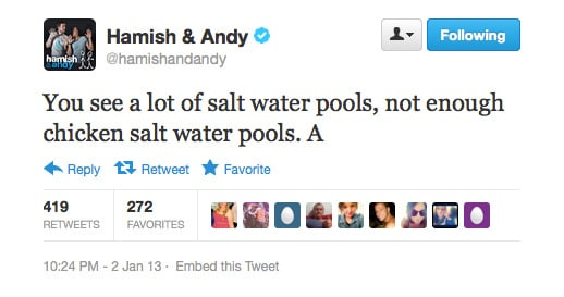 Why has no one thought of this before, Andy?