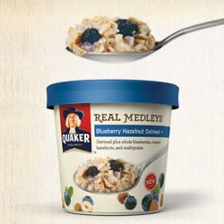 Quaker Real Medleys Blueberry Hazelnut Oatmeal+