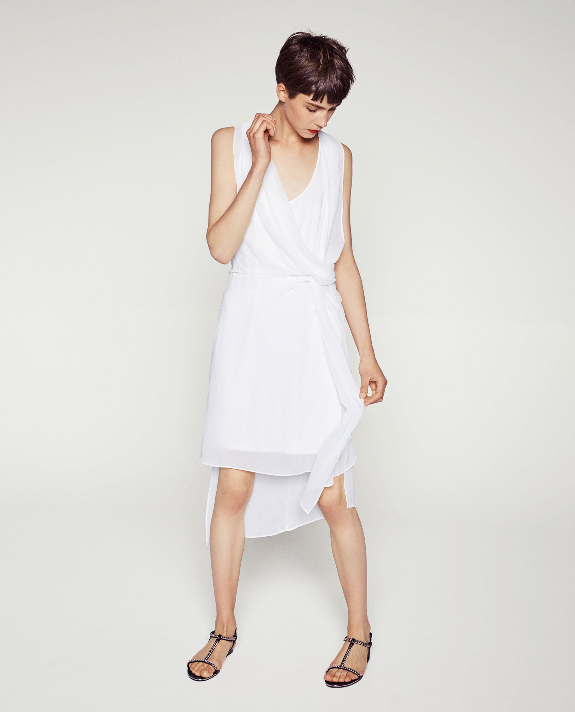 Zara Asymmetric Gathered Dress ($50)