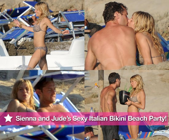 Pictures of Sienna Miller in a Bikini and Jude Law Shirtless on Vacation in Italy