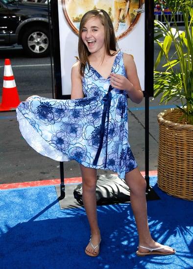 Rachel Fox flirted with the camera at the Nim's Island premiere.