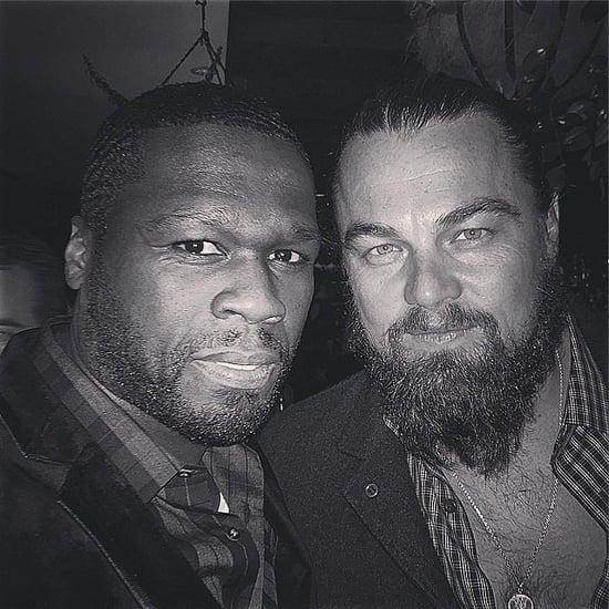 Leonardo DiCaprio Photobombs 50 Cent and Naomi Campbell