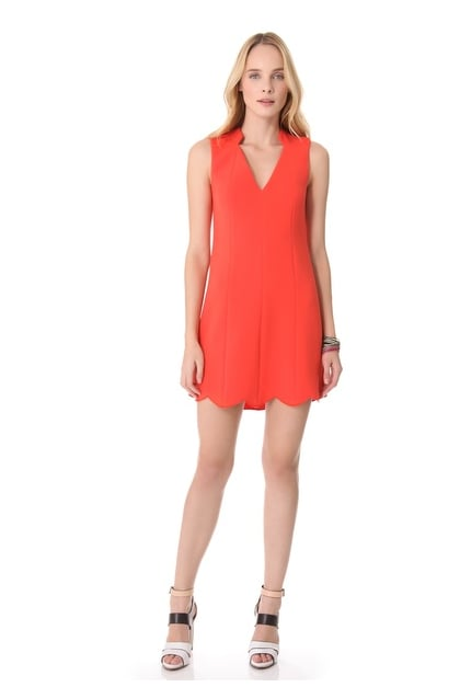 """Your solution to the """"what to wear to cocktails"""" dilemma comes in the form of this Rachel Roy Scallop Dress ($149-$179, originally $298)."""