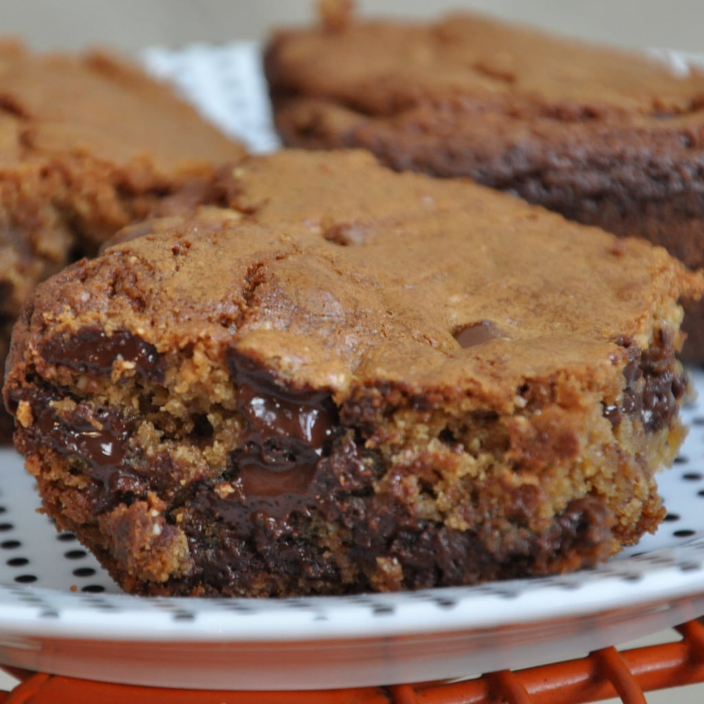 Peanut Butter Brownies with Chocolate Chunks