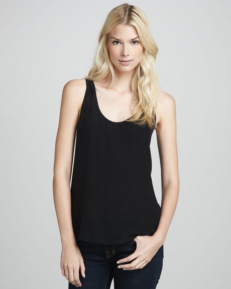This dressier French Connection silk tank ($68) can easily pair with shorts during the day and with a silky maxi for night.