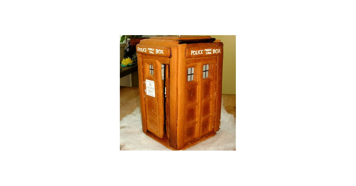 tardis gingerbread house instructions
