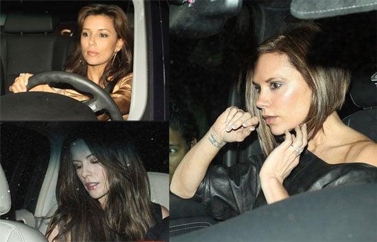 Victoria Beckham, Eva Longoria, Kate Beckinsale Out in LA at STK Restaurant