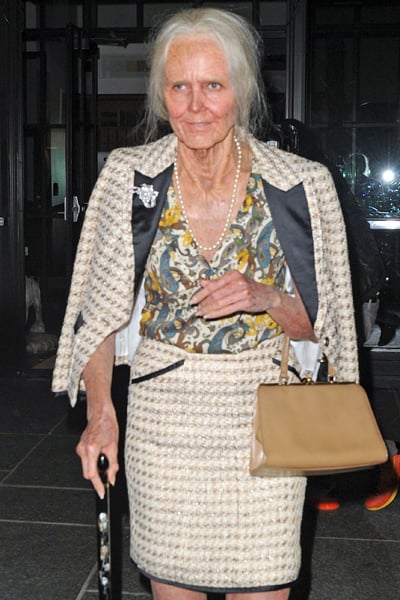 Heidi Klum pulled out all the stops for her elderly woman costume in NYC on Thursday.