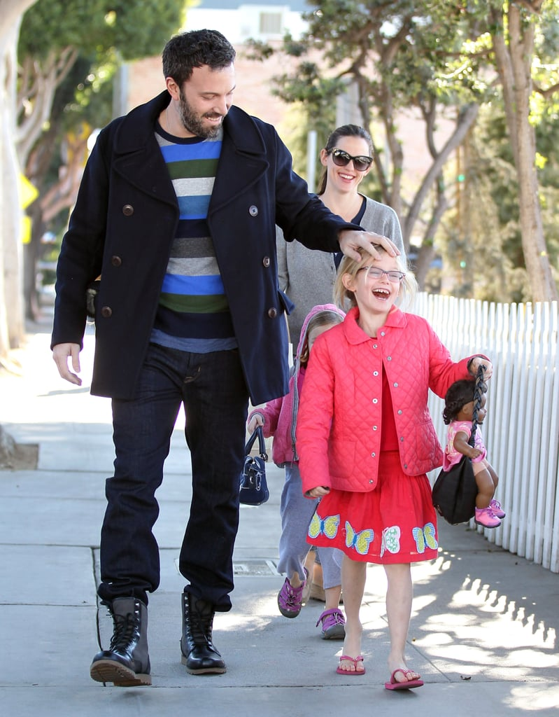 Ben Affleck and Jennifer Garner took their girls to an LA skating rink.