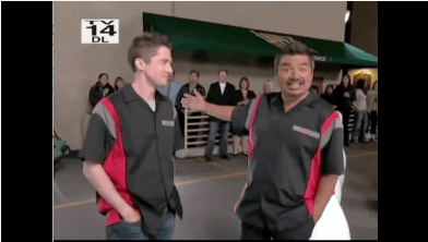 Topher Grace and George Lopez Are Human Bowling Balls