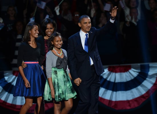 Get the Look: The Obama Girls' Polished Election-Night Style
