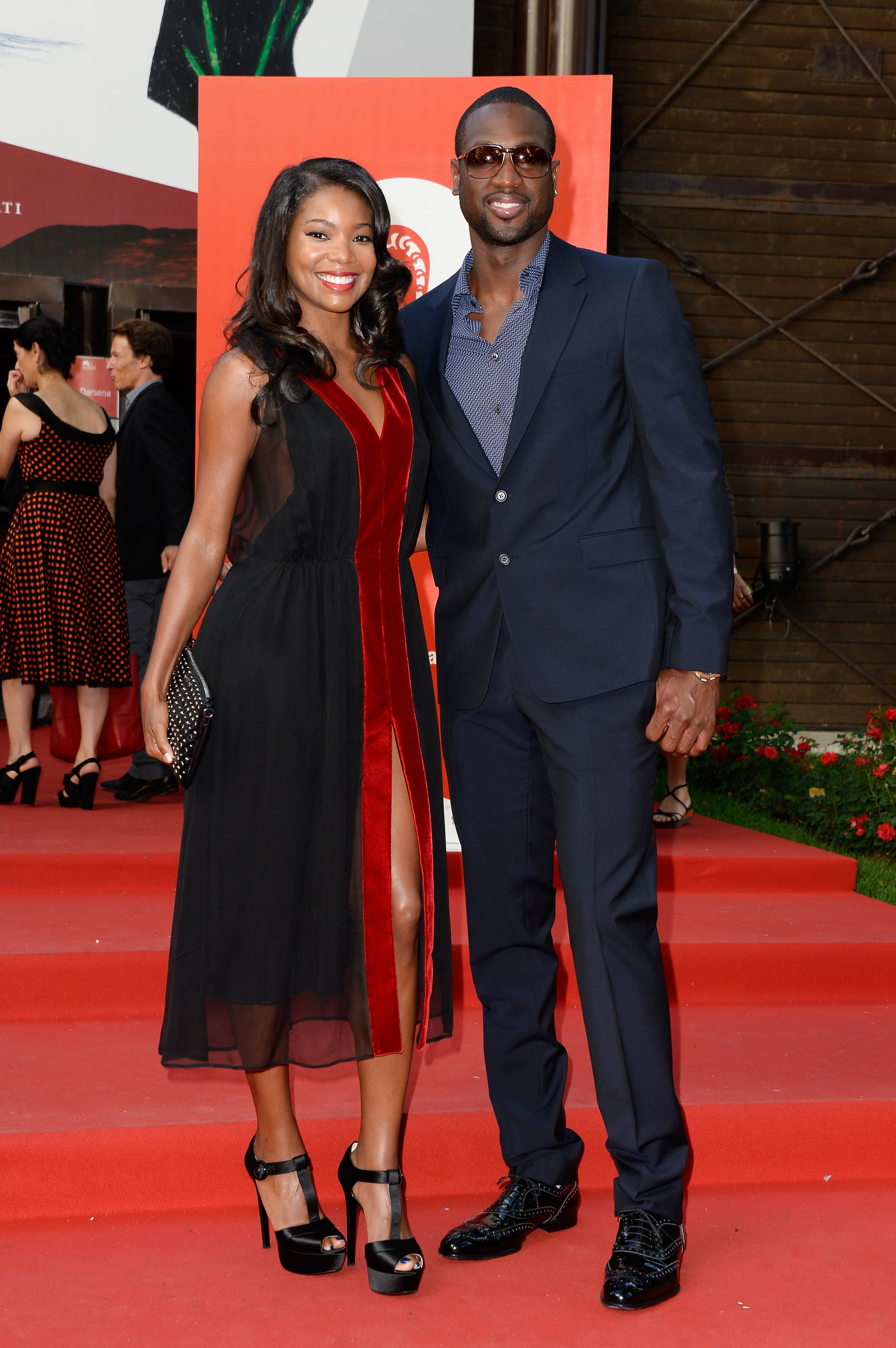 Dwyane Wade and Gabrielle Union arrived for the Miu Miu Women's Tales event.
