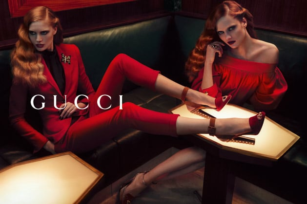Siren reds give the Gucci campaign a sultry feel.