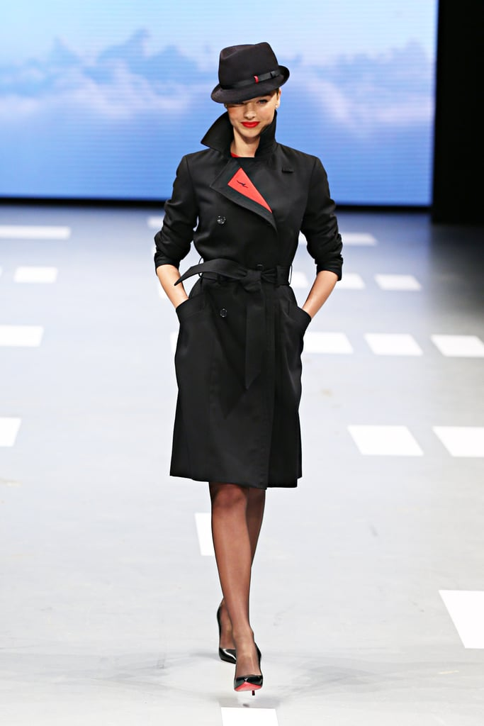 Miranda Kerr modelled one of the new trench coat designs.