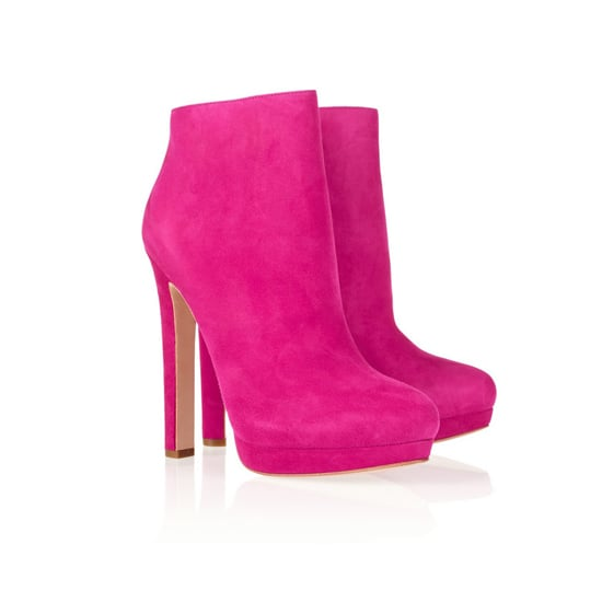 Alexander McQueen Suede Ankle Boots, $1,075
