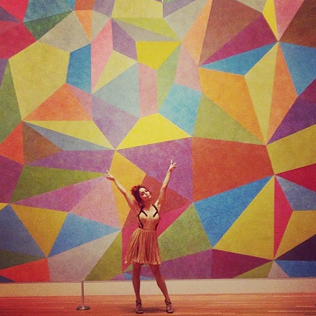Vanessa Hudgens posed in front of an artsy mural while in Indianapolis for the Heartland Film Festival. Source: Instagram user vanessahudgens