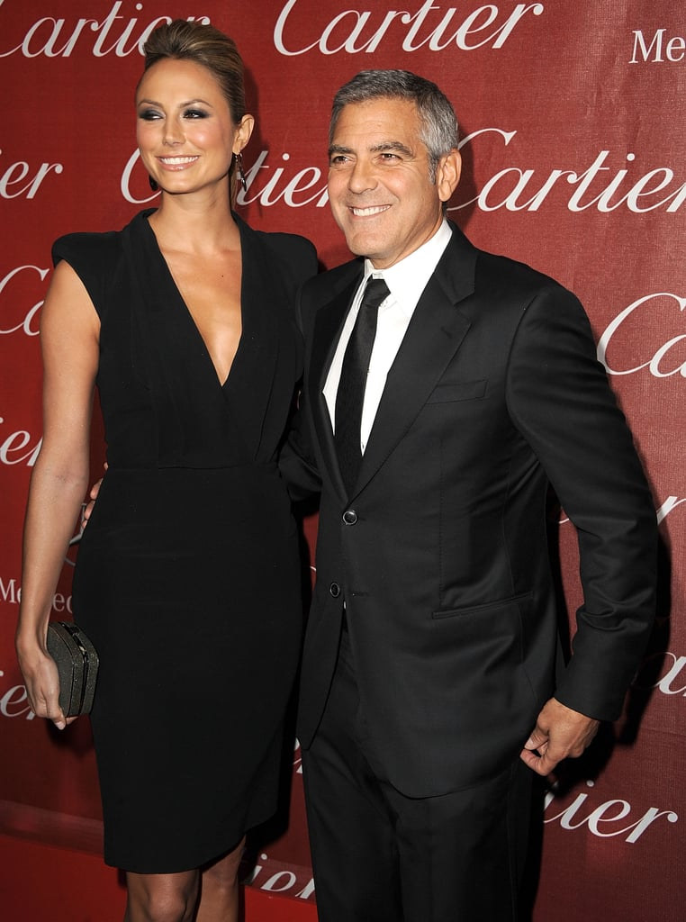 George Clooney had Stacy Keibler by his side for the Palm Springs International Film Festival in January 2012.