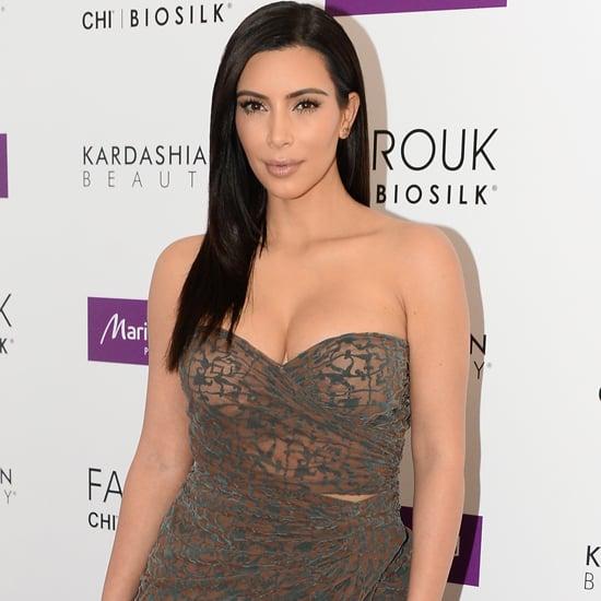 Kim Kardashian's Dress at Marionnaud Champs Elysees in Paris