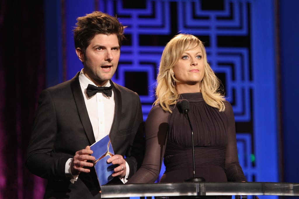 Adam Scott and Amy Poehler presented an award together.