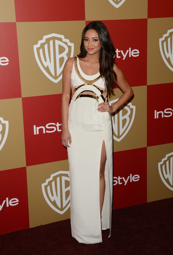 Shay Mitchell arrived at the soiree.