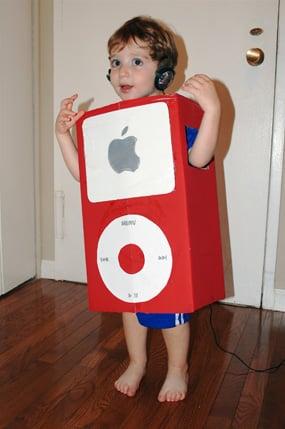 ECOWEEN:  Cardboard Box iPod Costume