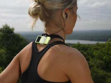 The nekFIT Holds Your iPod On The Back Of Your Neck