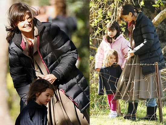 Photos of Katie Holmes and Suri Cruise on the Set