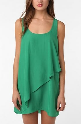 A tank dress jazzed up in jade green and pretty layers. Silence & Noise Layered Dress,$69