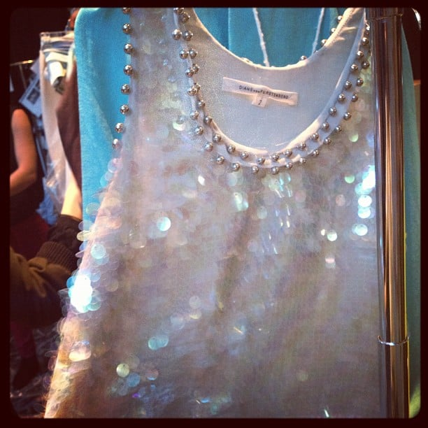 We spy sparkles! Sneak peek at DVF's new range.