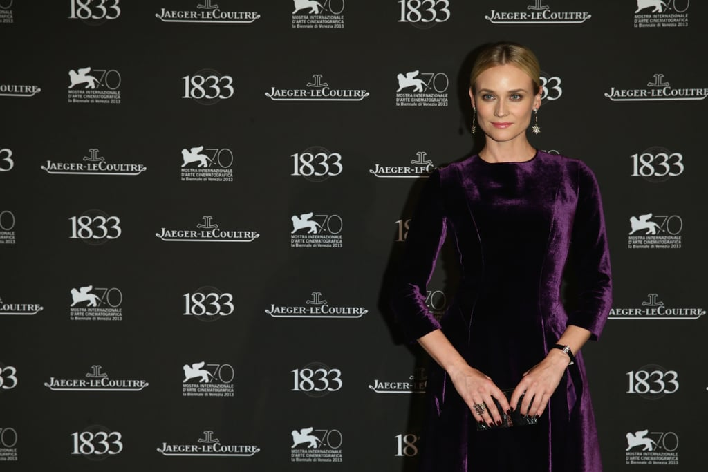 Diane Kruger wore a purple dress while at the Venice Film Festival.