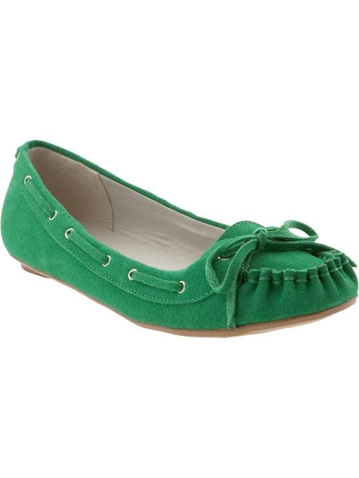 Old Navy Women's Suede Moccasins ($25)