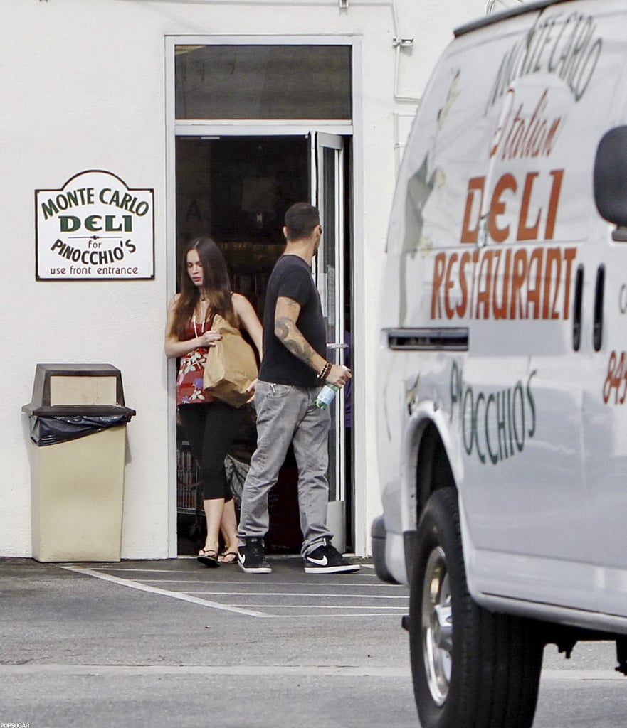 Megan Fox grabbed take-out food with Brian Austin Green.