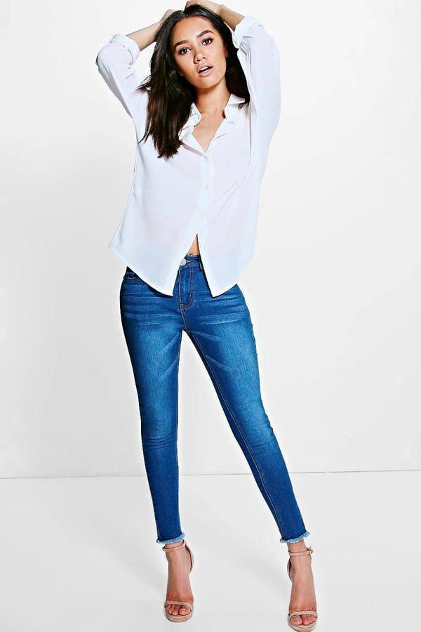 Boohoo Petite Eliza Fray Hem Skinny Jean ($44)</p><p>