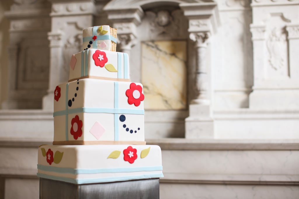 Between the fun colors and funky patterns, this cake is ready to party.