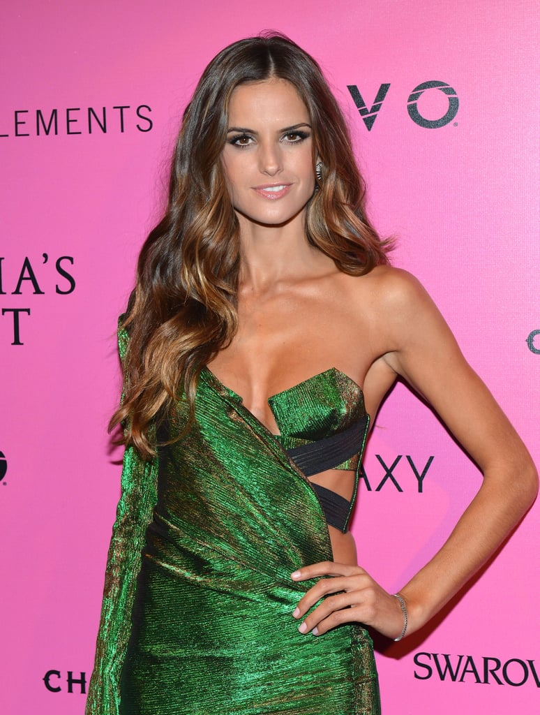 Izabel Goulart wore a green dress to attend the Victoria's Secret Fashion Show after party.
