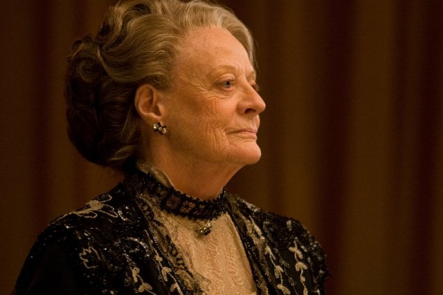 """Cora Crawley: """"I might send [Mary] over to visit my aunt. She could get to know New York.""""  Lady Violet: """"Oh, I don't think things are quite that desperate."""" Photo courtesy PBS"""