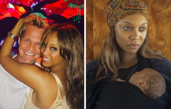 Tyra Banks Looked So Happy To Be Celebrating Her First Mother's Day