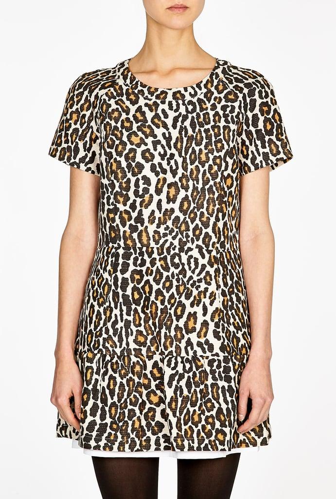 Sea Leopard-Print Ruffle Dress