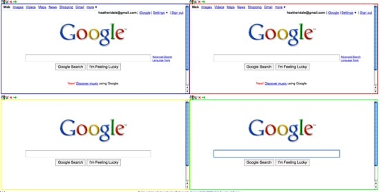 Conduct Four Separate Google Searches Thanks to GoogleGoogleGoogleGoogle