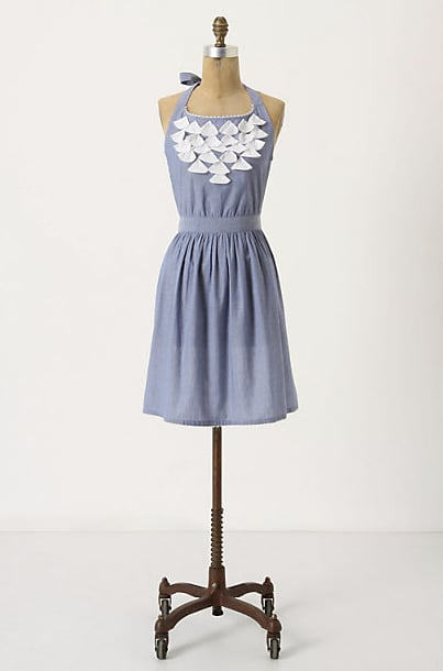For a Crab Season Party: Fluttered Chambray Apron