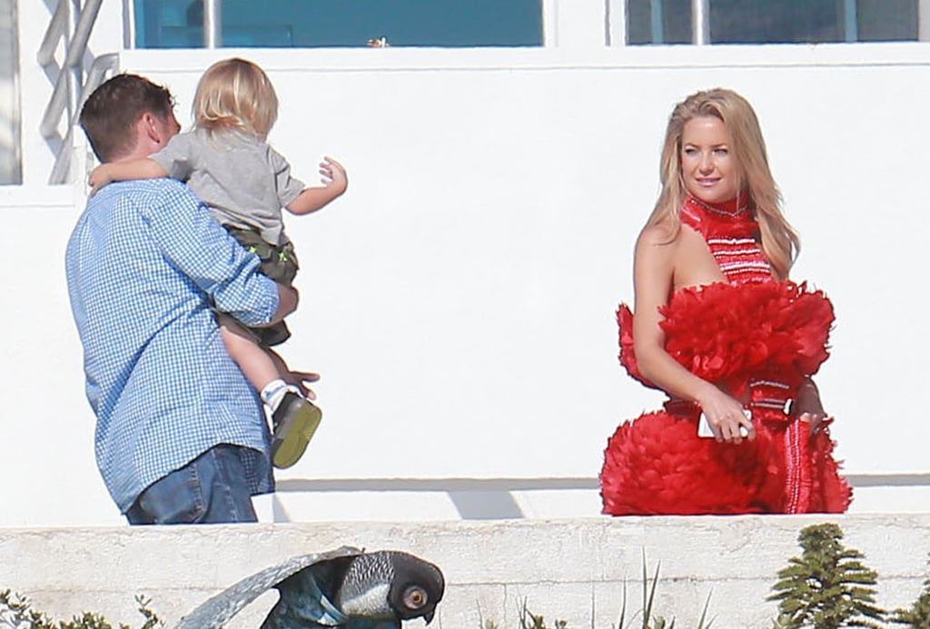 Kate Hudson and her son Bing spent time together during the shoot.